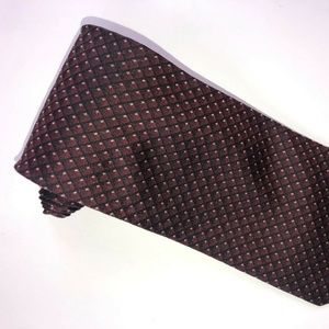 Dockers Burgundy w/Black Geometric Design Tie T178
